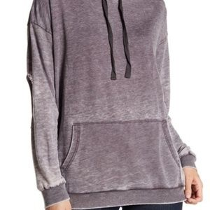Poof Burnout Elbow Cutout Sweatshirt